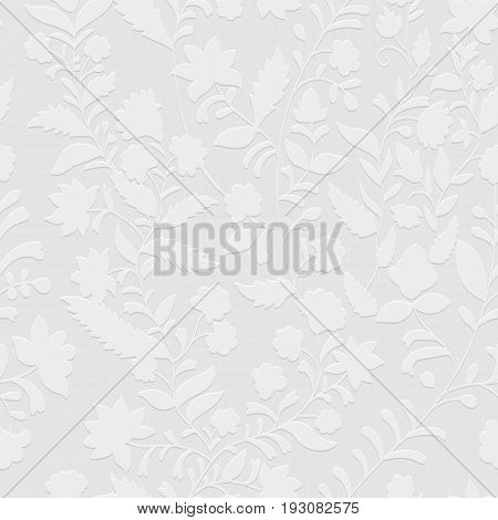 Floral seamless pattern, texture effect. Indian colorful ornament. Vector decorative flowers and Paisley. Ethnic style. Design for fabrics, cards, web, decoupage