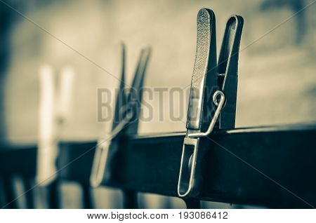 Sepia Clothes Pegs