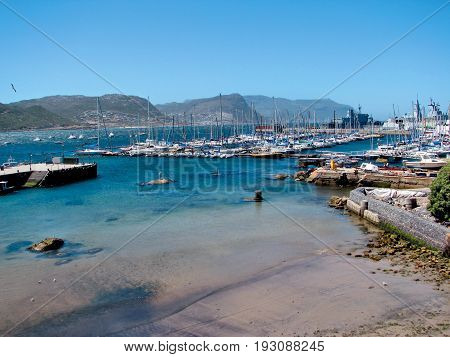 BOATS, FROM SIMONS TOWN, CAPE TOWN, SOUTH AFRICA