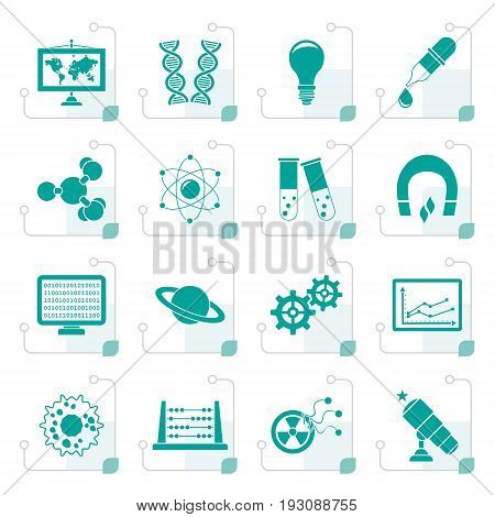 Stylized science, research and education Icons - Vector Icon set