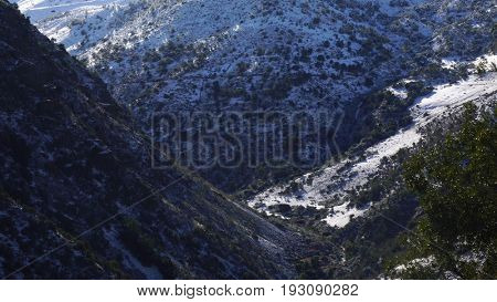 Andes Mountains in Santiago, Chile