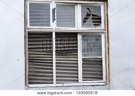 Outdoor shoot from a ramshackle Window. Outdoor Shot.