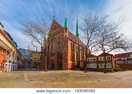 Roman Catholic provost church of St. John in the eastern part of the Hanseatic City of Bremen, in Schnoor, Germany