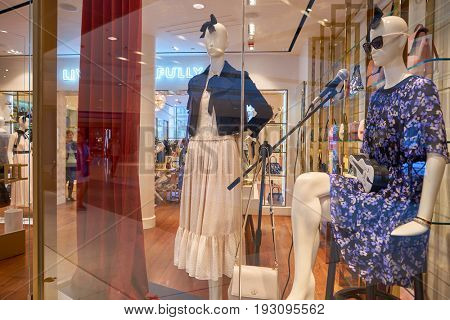 HONG KONG - CIRCA SEPTEMBER, 2016: Kate Spade store in Hong Kong. Kate Spade New York is an American fashion design house