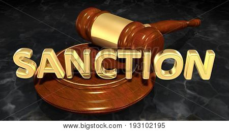 Sanction Law Concept 3D Illustration
