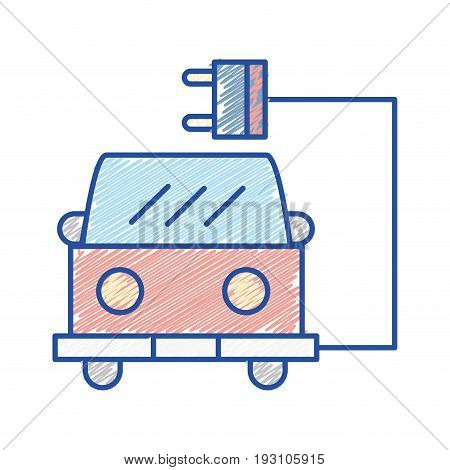 fire trunk with power cable connection vector illustration