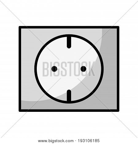 line outlet energy to technology electrical industry vector illustration
