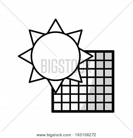 line solar energy to reuse and environment care vector illustration
