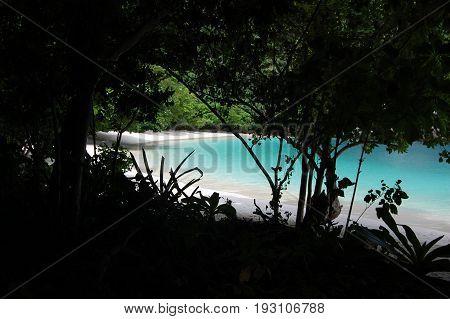 Hong island, Phang Nga province, Thailand - March 2012. Discovering amazing island of the Phang Nga province. This island has fantastic colors of the sea.