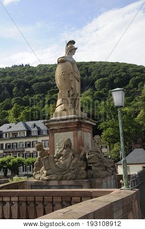 Heidelberg /Germany - 27June 2017. Tourtists buy life in castel view birdge view and genral view of Heidelberg city Germany on 27 june 2017 (Photo.Francis Joseph Dean/Deanpictures)