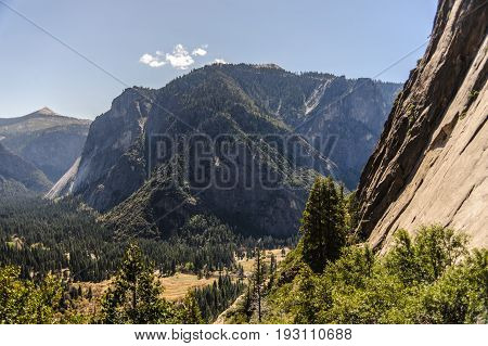 Yosemite Valley as seen from the upper falls