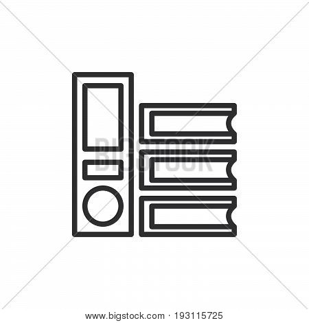 Ring binder folders line icon outline vector sign linear style pictogram isolated on white. Office documents symbol logo illustration. Editable stroke. Pixel perfect graphics