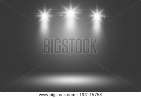 White color spotlight stage design backdrop, Spotlight white.