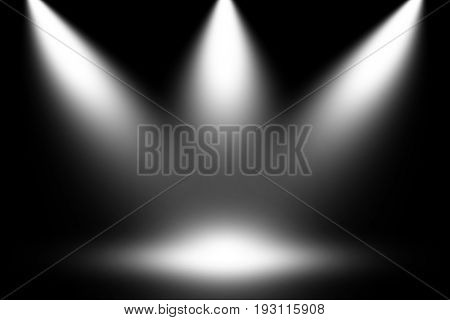 White light spotlight stage concept background, Spotlight white.