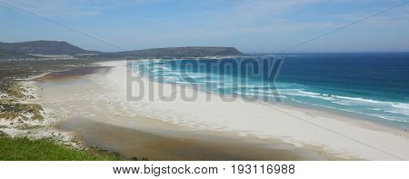 beautiful view over a beach with white sand.