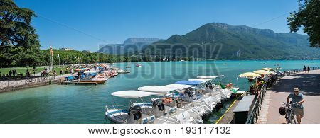 Large Panoramic View Of Lake Annecy At Haute-savoie Department. France