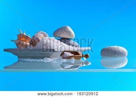 Sea Salt On A Glass Table