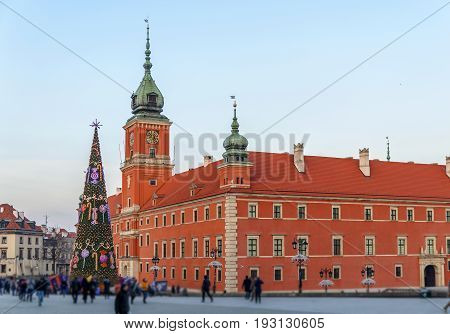 Royal Palace in old town Warsaw, Poland