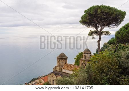 View from the garden of Villa Rufolo in Ravello - Amalfi Coast Campania Italy