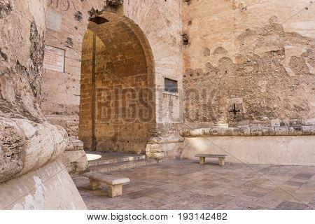 Old City Gate Torres De Quart In Valencia