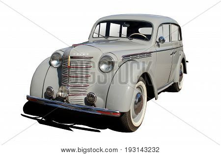 car of 50 years is isolated by a retro on a white background