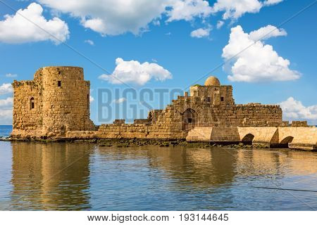 Crusaders Sea Castle Sidon Saida in South Lebanon Middle east