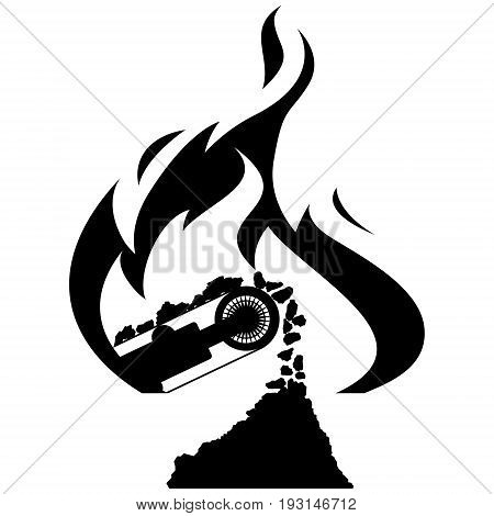 Icon Coal industry. The illustration on a white background.