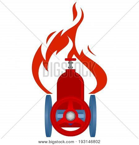 Icon gas industry. The illustration on a white background.