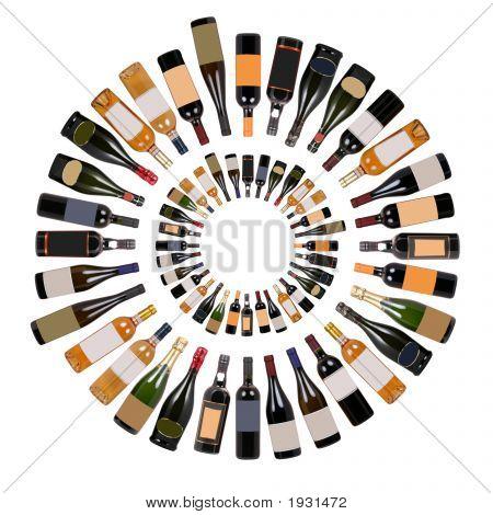 Wine Bottles Composition