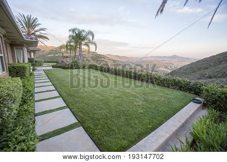 Outdoors in Southern California homes ready for real estate listings