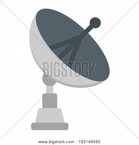 Satellite Dish flat icon, antenna and radar, vector graphics, a colorful solid pattern on a white background, eps 10.