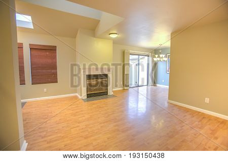Living room in model home in southern California ready for a real estate shoot