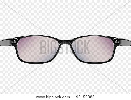 glasses on transparent вackground Isolated on a white background