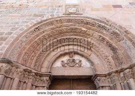 Door Of The Cathedral Of Siguenza, Guadalajara Province, Castilla-la Mancha, Spain