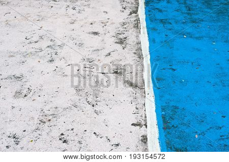Abstract sports floor showing markings colorful for different games multi-sport painted on court