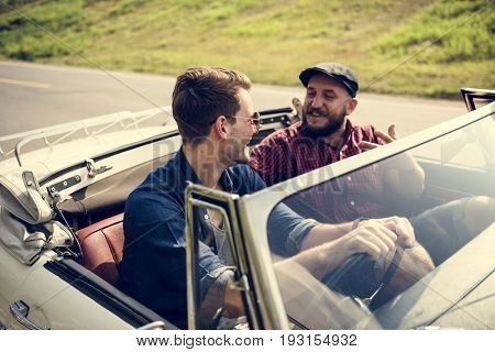 Friends Travel on Road Trip Together