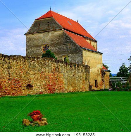 Ruins of medieval cistercian abbey in Carta, Transylvania.