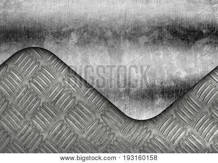 grunge diamond plate background