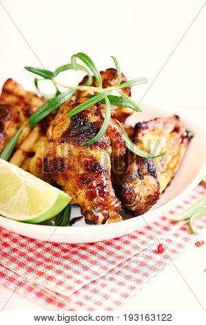 Teriyaki Chicken Wings with Lime