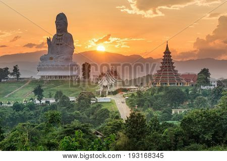 Temple wat hyua pla kang (Chinese temple) Chiang Rai Asia Thailand They are public domain or treasure of Buddhism no restrict in copy or use