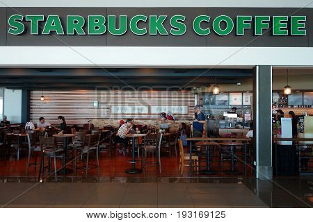 Starbucks Cafe Interior In Kota Kinabalu, Saba