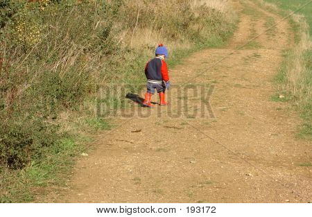 Child Setting Off On A Walk
