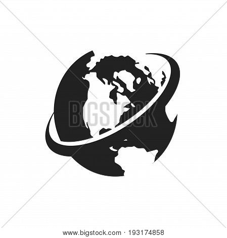 world logo design, globe logo design, logo template