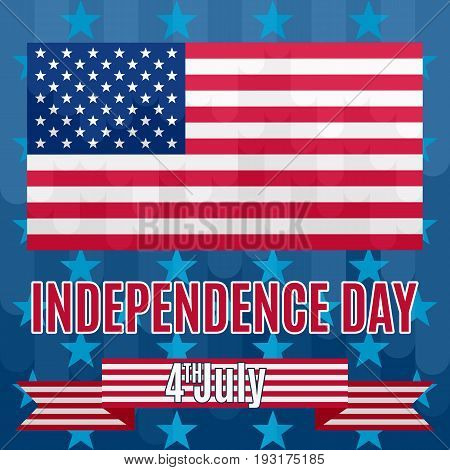 Background to the Independence Day of America colored poster vector