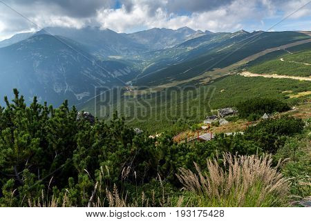 Rila Mountain, Yastrebets, View towards Markudzhitsite and Musala peak, Bulgaria