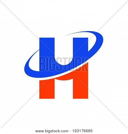 abstract UH letter logo design, uh letter logo design