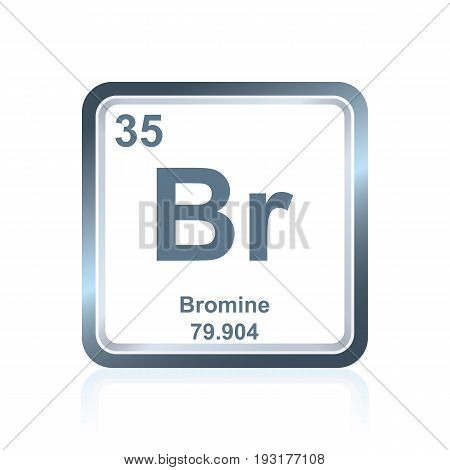 Chemical Element Bromium From The Periodic Table