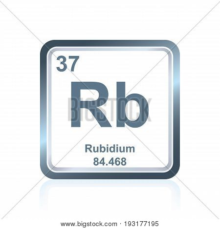 Chemical Element Rubidium From The Periodic Table