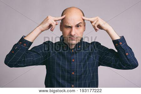 Guy Seriously Thinking