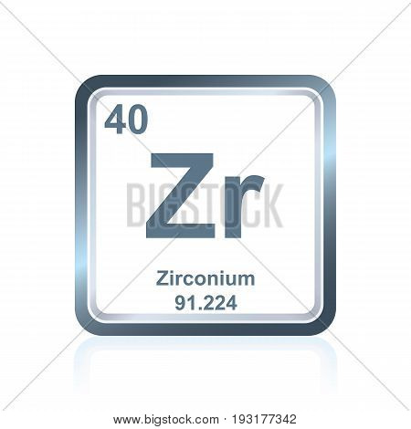 Chemical Element Zirconium From The Periodic Table